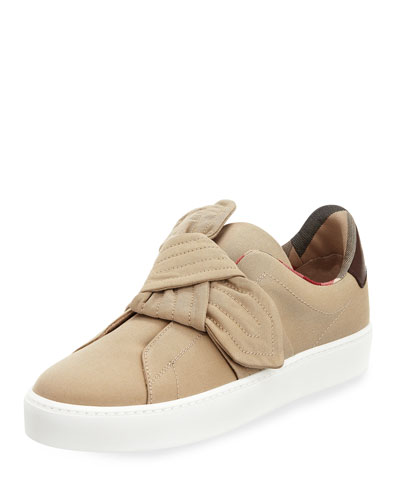 Westford Fabric Knotted Sneaker, Honey
