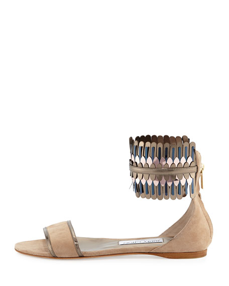 Kimro Suede Ankle-Wrap Sandal