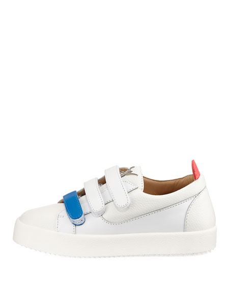 Two-Tone Grip-Strap Sneakers