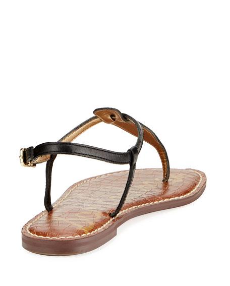 Gigi Leather Flat Thong Sandal