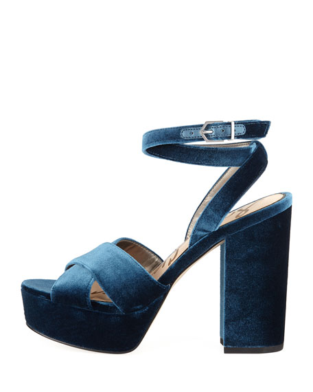 Mara Velvet Platform Sandal