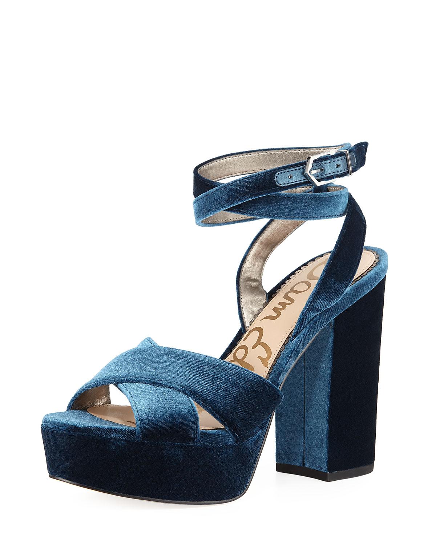 dfd656e924ba Sam Edelman Mara Velvet Platform Sandal