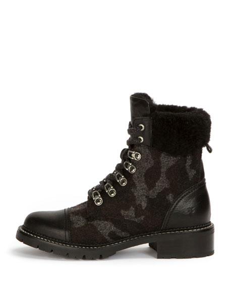 Samantha Camouflage Mixed Hiker Boot