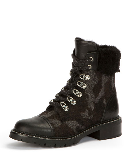 Frye Samantha Camouflage Mixed Hiker Boot