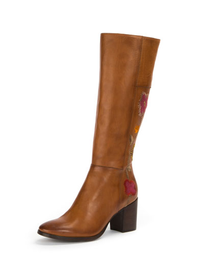 Frye Nova Flower Tall Knee-High Boot sEpsi
