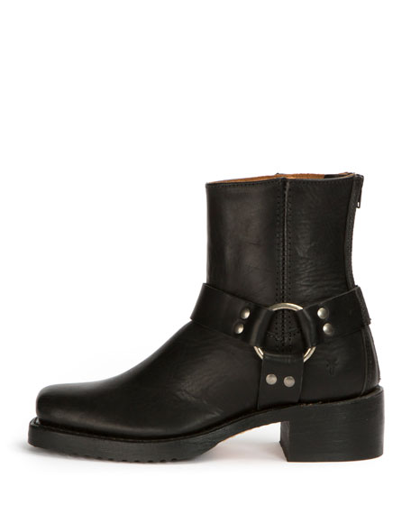 Harness Grain Leather Boot, Black
