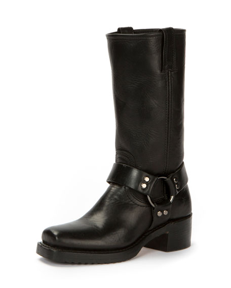 Heirloom Harness Tall Crinkled Boot