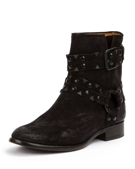 Frye Carly Studded Suede Short Boots