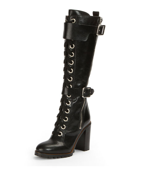Frye Harlan Tall Lace-Up Military Boot