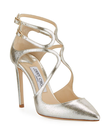 Jimmy Choo Lancer Metallic Leather Pump