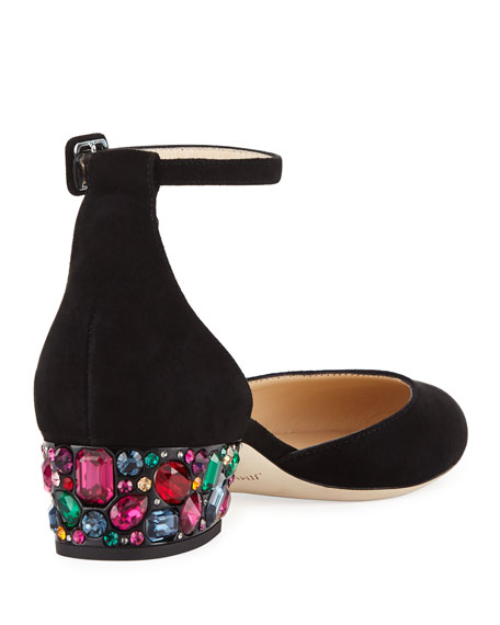 Marnie Suede Ankle-Strap Pumps