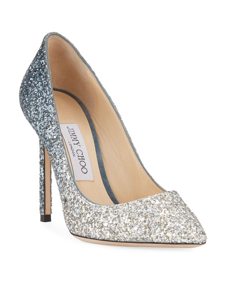 Jimmy Choo Romy Glitter Degrade 100mm Pump