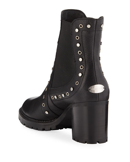 Burrow Studded Leather 65mm Bootie
