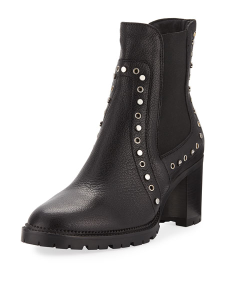 Jimmy Choo Burrow Studded Leather 65mm Bootie