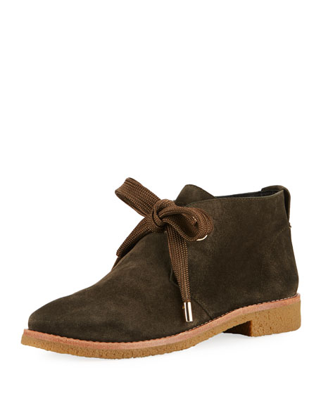 kate spade new york barrow suede lace-up bootie