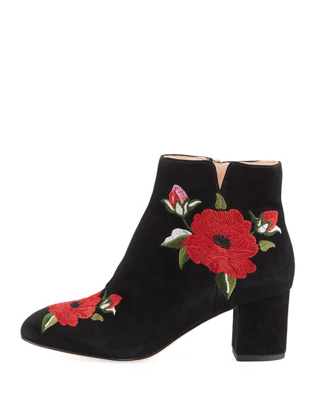 langton embroidered suede bootie