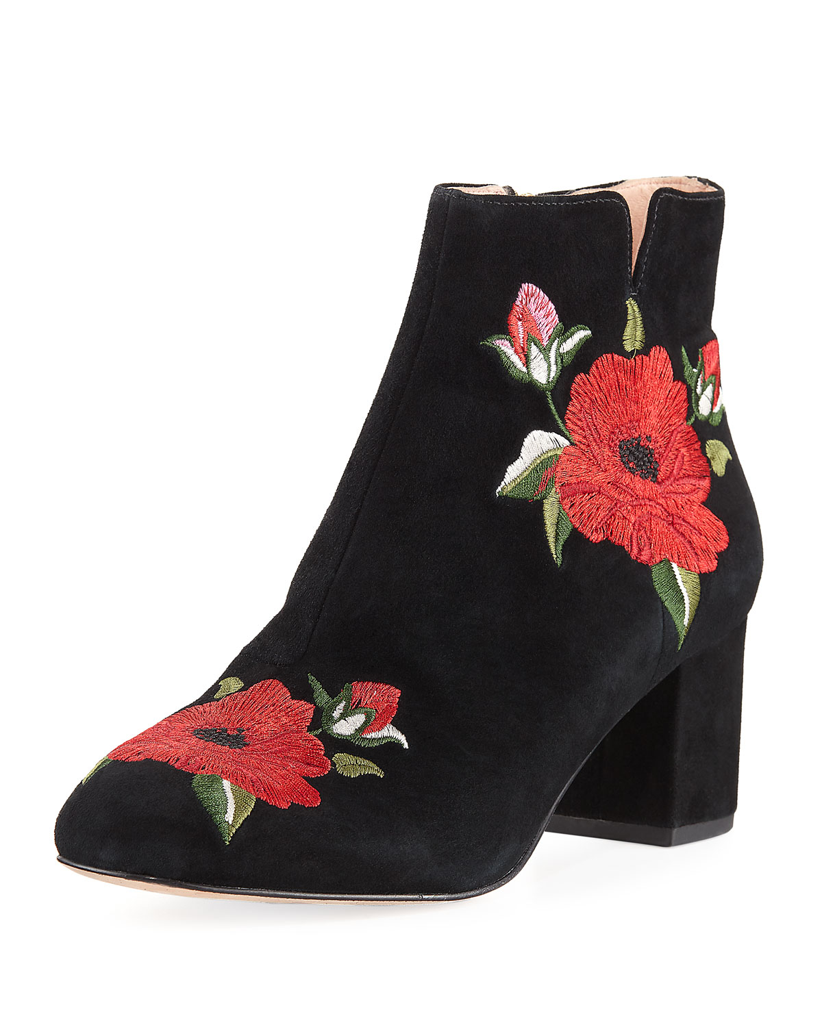 e9384c4c45c3 kate spade new york langton embroidered suede bootie | Neiman Marcus