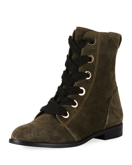 raquel suede lace-up Booties