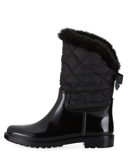 reid quilted nylon rubber combo boot