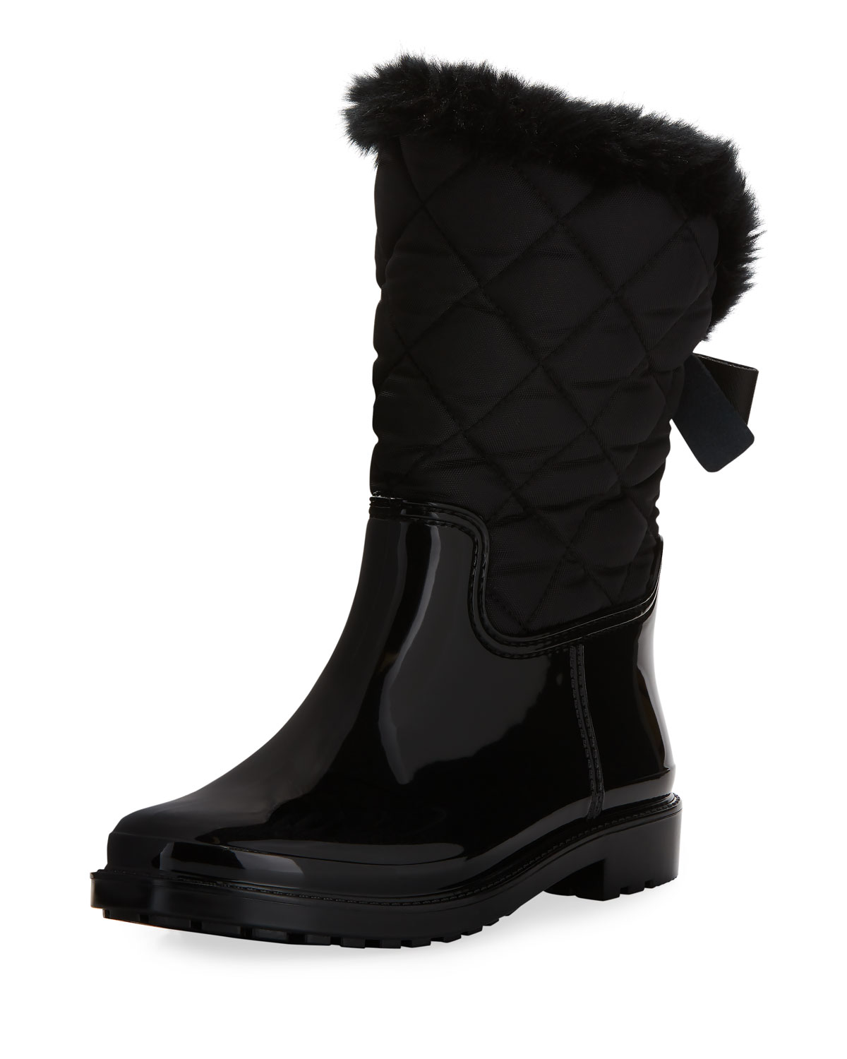 131946c24011e kate spade new york reid quilted nylon rubber combo boot
