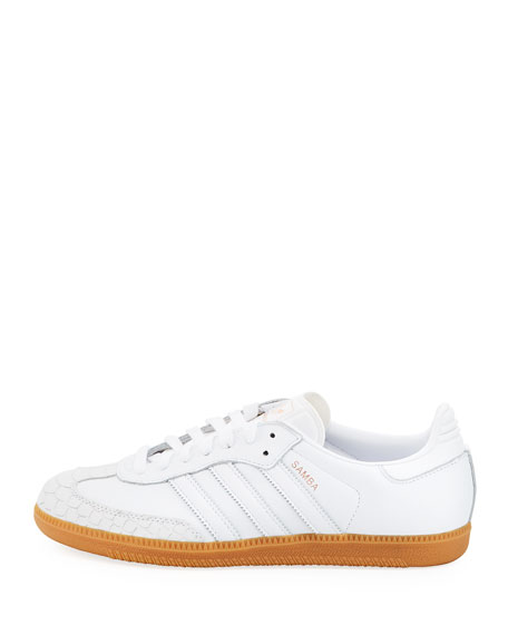 Samba Scale-Embossed Leather Platform Sneaker