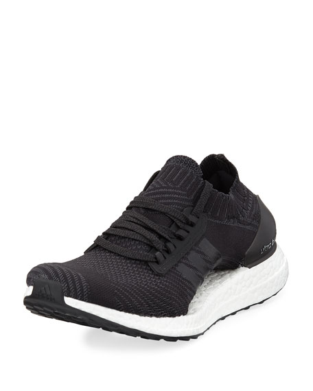 Adidas Ultra Boost X Knit Sneaker, Black/White