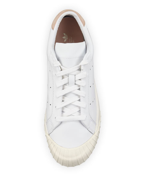 Everyn Perforated Platform Sneakers, White
