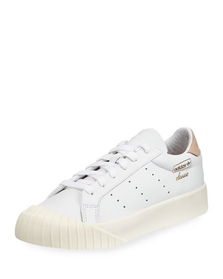 Adidas Everyn Perforated Platform Sneaker, White
