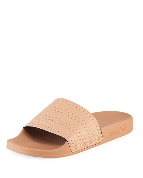 Adidas Adilette Woven Leather Comfort Slide Sandal
