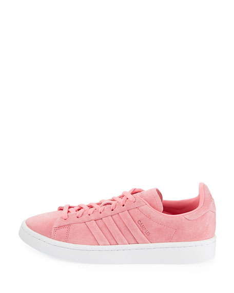 Campus Stitch & Turn Suede Lace-Up Sneakers, Chalk Pink