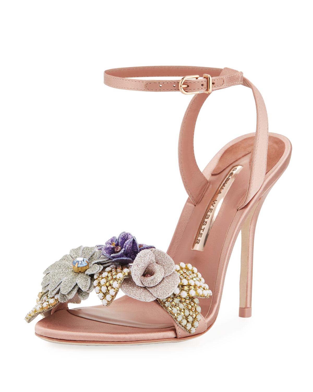 29b78ee4401 Lilico Satin Glitter Sandal