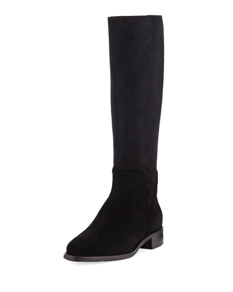 Aquatalia Nicolette Suede-Stretch Tall Boot