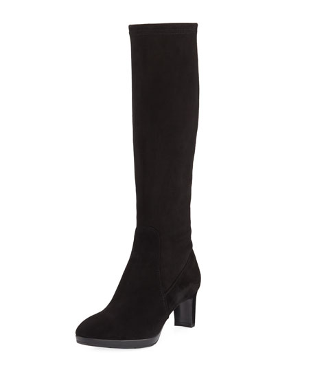 Aquatalia Dahlia Heeled Suede Knee Boot