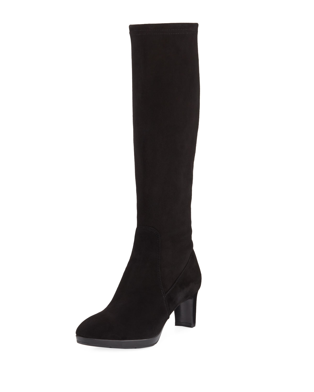 Dahlia Heeled Suede Knee Boot