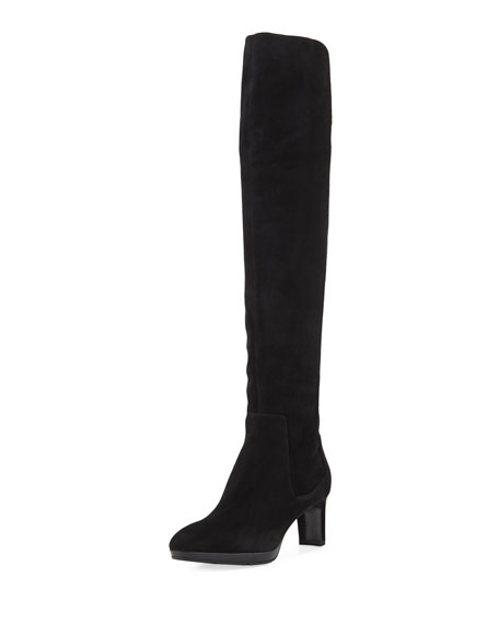Aquatalia Danika Over-The-Knee Suede Boot