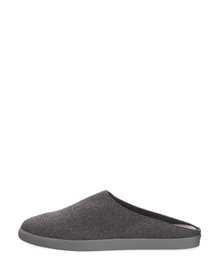 Eric Cashmere Felt Flat Slide Sneaker Mule