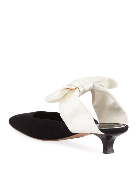 Coco Suede and Satin Mule