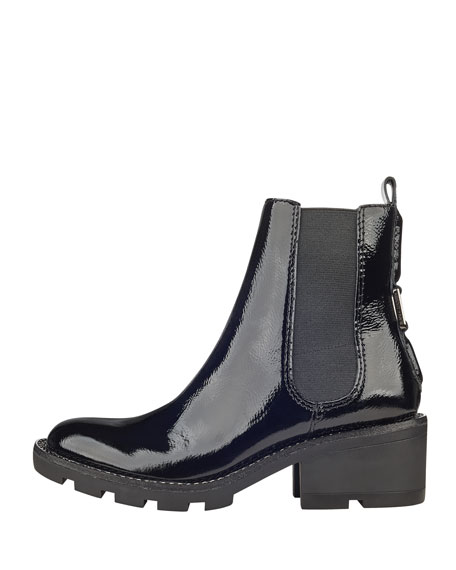Porter Lace-Up Patent Chelsea Boot