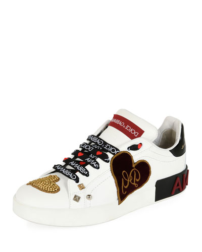 Sacred Heart Patchwork Trainer, White
