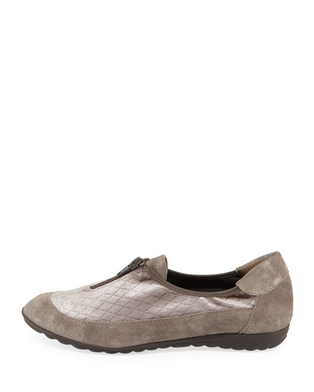 Besie Quilted Comfort Flat, Taupe