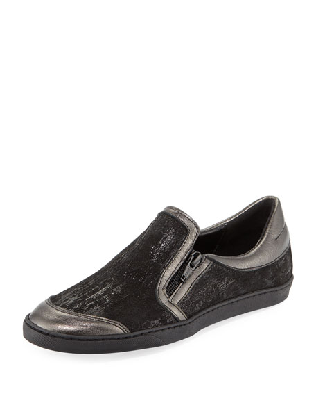 Sesto Meucci Frida Novel Metallic Slip-On, Black