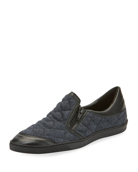 Frida Novel Quilted Slip-On, Gray