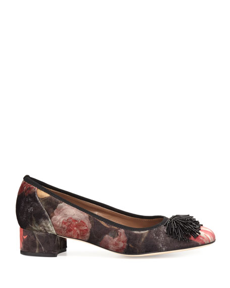Flynn Ornament Floral Pump, Multi