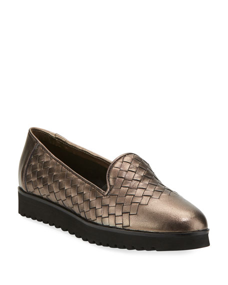 Sesto Meucci Naia Woven Slip-On Loafer, Pewter