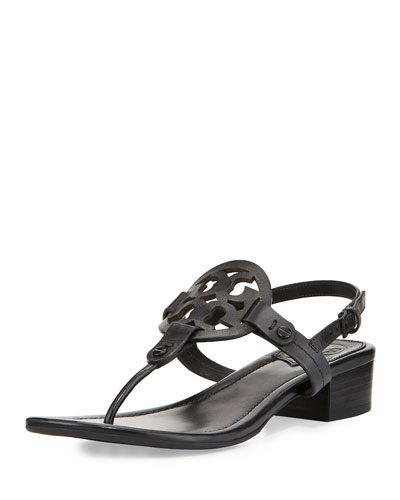 Miller Medallion Leather Flat Sandal