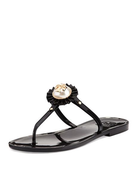 Tory Burch Melody Pearly Flat Thong Sandal