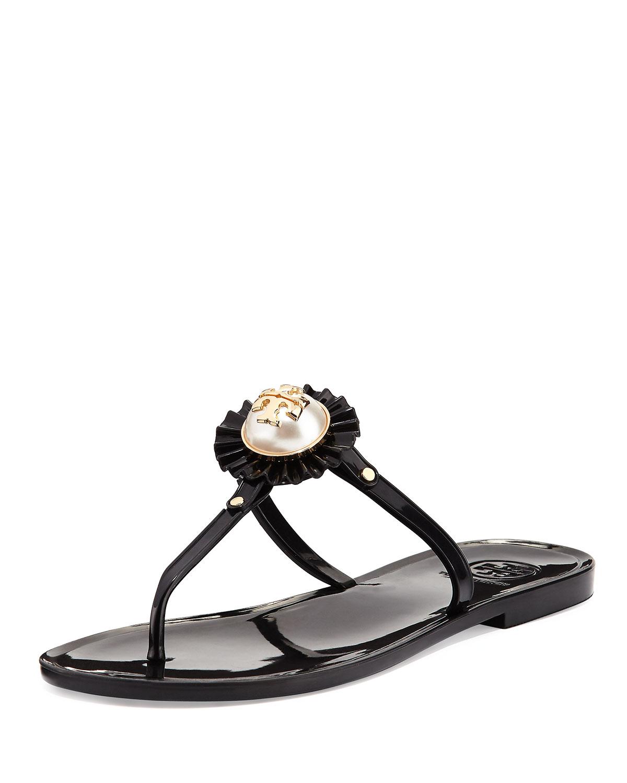 db0e1d3d7c4c Tory Burch Melody Pearly Flat Thong Sandal