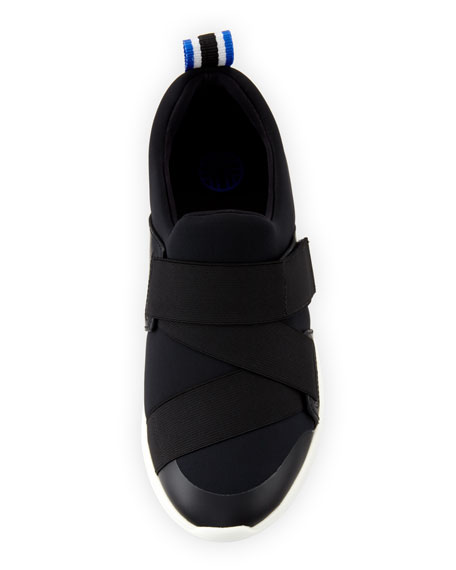 Neoprene Leather-Trim Slip-on Sneaker
