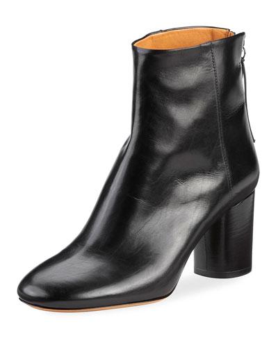 Ritza Leather Block-Heel Boot