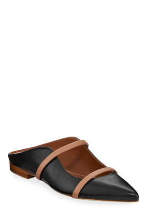 Malone Souliers Maureen Flat Leather Mules